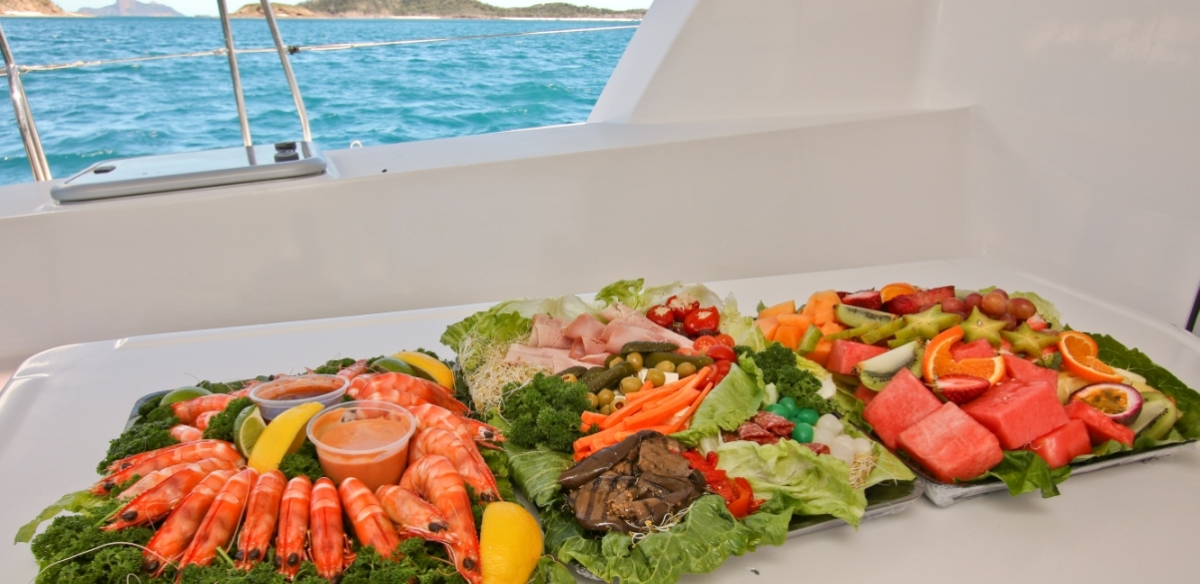 bareboat charter catering