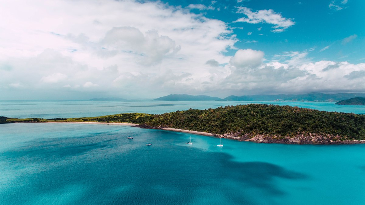 Ecotourism photo of whitsundays drone