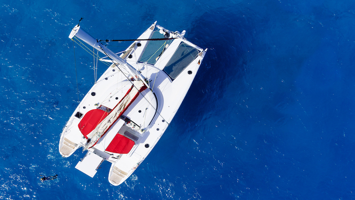 Catamaran or yacht for charter