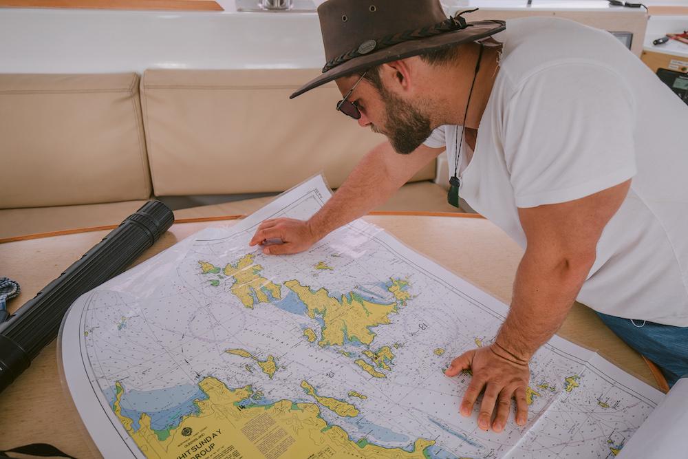 Sailing the Whtisundays Map Navigation