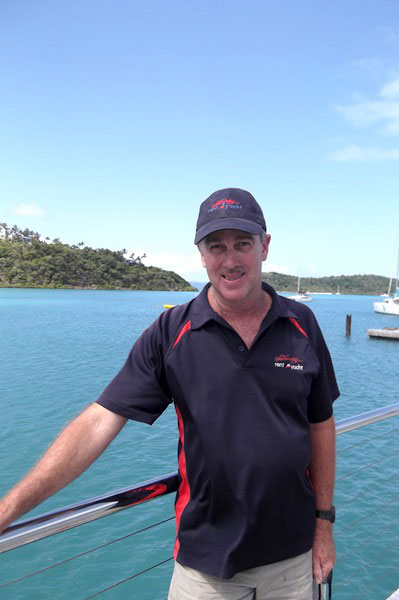 Whitsunday Rent A Yacht briefer and relief operations manager Ian Wells