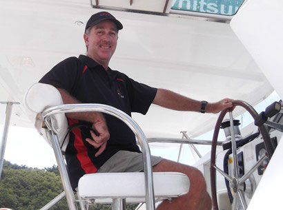 Operations manager John Henderson on board a Whitsunday Rent A Yacht charter vessel