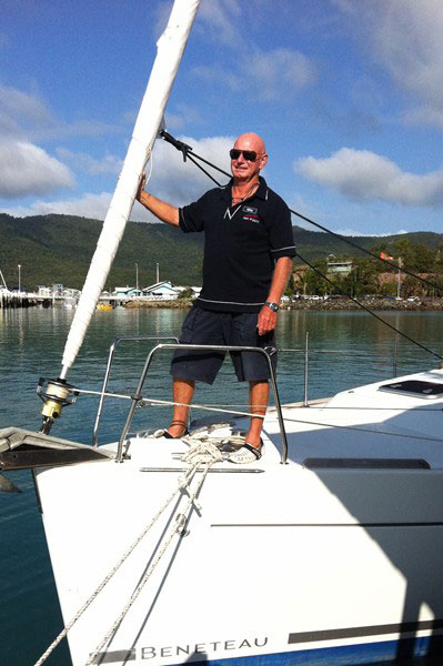 Whitsunday Rent A Yacht Briefer Mike Dicker on board a Beneteau charter yacht