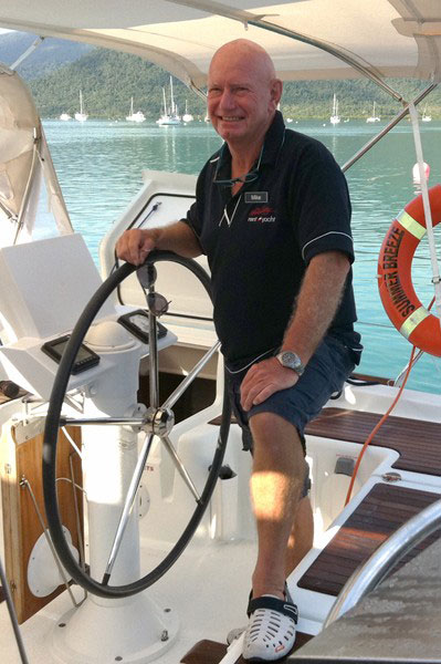 Whitsunday Rent A Yacht briefer Mike Dicker on board a charter yacht