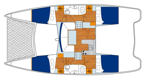 Seafox, Leopard 38 yacht floor plan