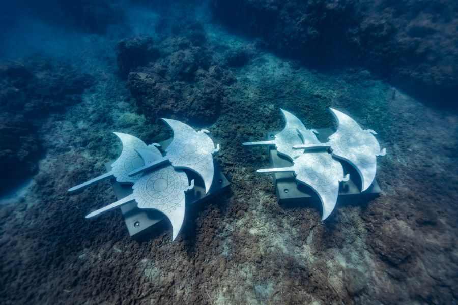 Migration of the Mantas - Whitsundays Underwater Sculptures