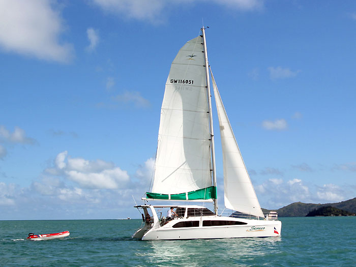 Seawind 1160 catamaran in the Whitsundays