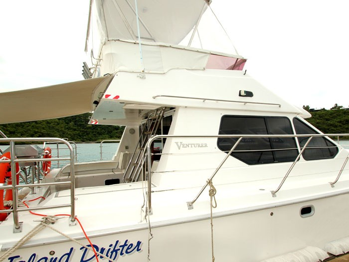Venturer 38 motor cruiser in the Whitsundays