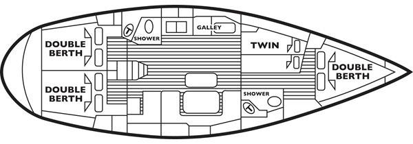 Bavaria 46 yacht floor plan