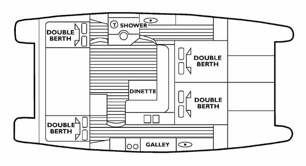 Venturer 38 motor cruiser floor plan